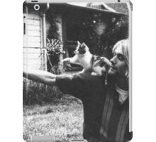 Kurt Cobain w/ a cute cat iPad Case/Skin