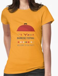 Barbecue festival Womens Fitted T-Shirt