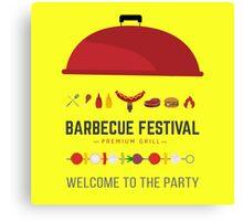 Barbecue festival Canvas Print
