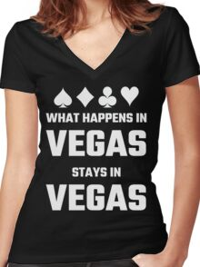 What Happens In Vegas Stays In Vegas Women's Fitted V-Neck T-Shirt