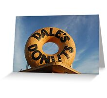 Dale's Donuts Greeting Card