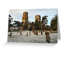 Dusting of snow at Wymondham Abbey Greeting Card