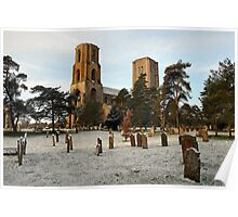 Dusting of snow at Wymondham Abbey Poster
