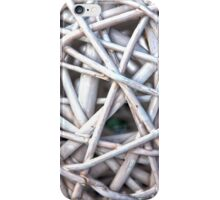 Twisted Wicker Branches Texture iPhone Case/Skin