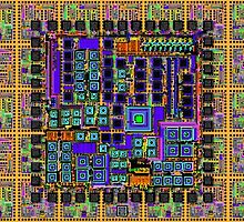"""""""Integrated Circuit Custom""""© by Lisa Clark for Thinker Collection - STEM Art"""