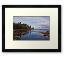 A Quiet Beach Framed Print