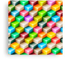 Colorful polygons Canvas Print