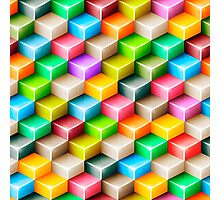 Colorful polygons Photographic Print