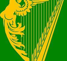 Irish Harp Heraldry - Gold by GrizzlyGaz