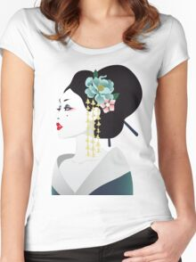 Japanese girl Women's Fitted Scoop T-Shirt