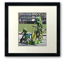 colourful fun of entertaining torists Framed Print