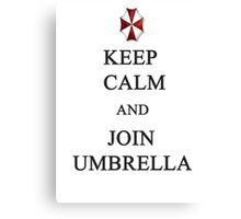 Keep Calm and Join Umbrella Canvas Print