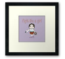 Fight Like a Girl - Chell | Portal Framed Print