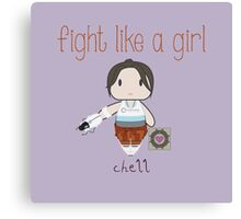 Fight Like a Girl - Chell | Portal Canvas Print