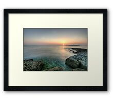 Sunset at Doolin Pier Framed Print