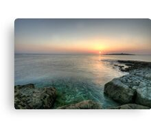 Sunset at Doolin Pier Canvas Print