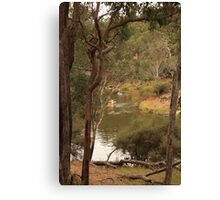 Canoeing on the Blackwood Canvas Print