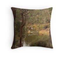 Canoeing on the Blackwood Throw Pillow