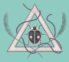 LadyBug Triangle - Azure by Sunflow