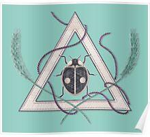 LadyBug Triangle - Azure Poster