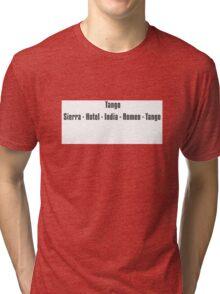 Phonetic t shirt Tri-blend T-Shirt
