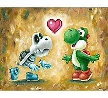 Yoshi Loves Dry Bones! Yoshi Art, Dry Bones Art, Video Game Art Photographic Print