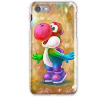 Rainbow Yoshi Loves Dry Bones! Yoshi Art, Dry Bones Art, Video Game Art iPhone Case/Skin