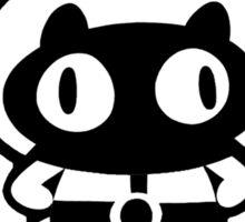 Cookie Cat - White & Black w/ text Sticker