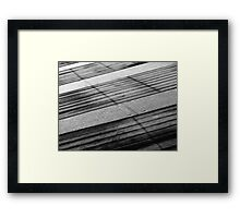 Floating Bridge 5 Framed Print