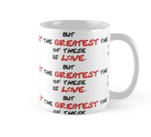 The Greatest Is Love Patterned Mug