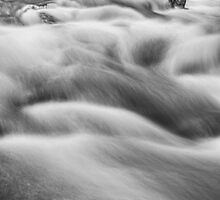 Boulder Creek In Black and White by wisdomwords