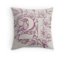 Twenty One Throw Pillow