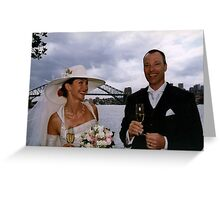 A letter, Bourke,  Berlin Wall, Opera House steps, a wedding and Paris.  Greeting Card