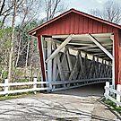 Everett Road Covered Bridge by Monnie Ryan