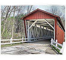 Everett Road Covered Bridge Poster