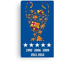 Barcelona - Champions League Winners Canvas Print