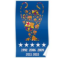 Barcelona - Champions League Winners Poster