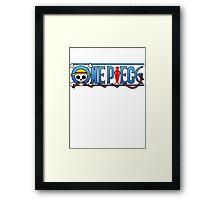 One piece logo Framed Print