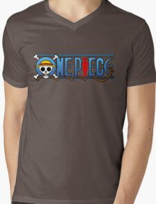 One piece logo Mens V-Neck T-Shirt