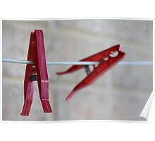 Two Red Pegs Poster