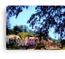 welcome to paradise 170..the view from studio almeida coval sintra portugal.. Canvas Print