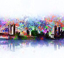 new york city skyline 3 by BekimART