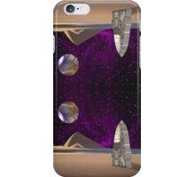 Purple light swirls round and round thinking thoughts that make no sound iPhone Case/Skin