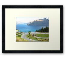Transversely Tranquil - Lake Wakatipu Framed Print