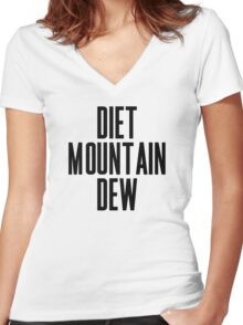 Diet Mountain Dew Women's Fitted V-Neck T-Shirt