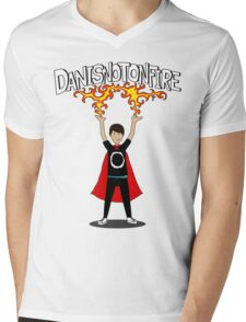 Danisnotonfire: the Superhero Mens V-Neck T-Shirt