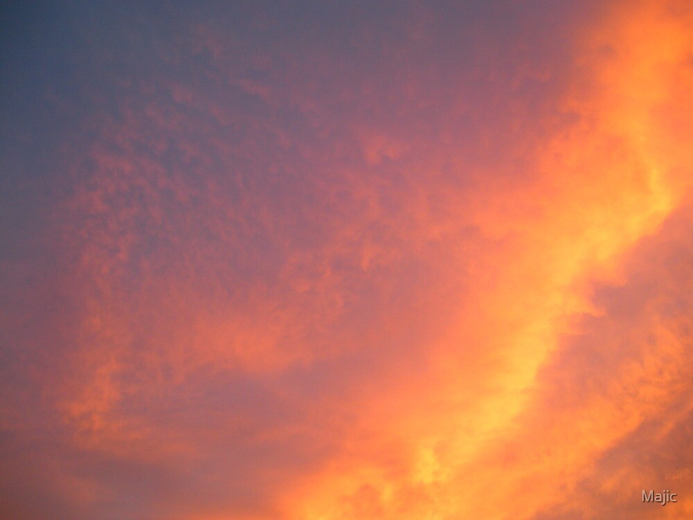 Dragon Fire Sunset by Majic