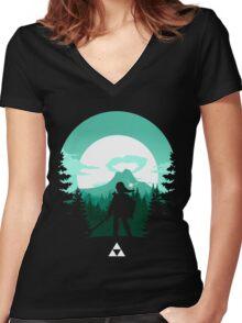 The Legend of Zelda (Green) Women's Fitted V-Neck T-Shirt