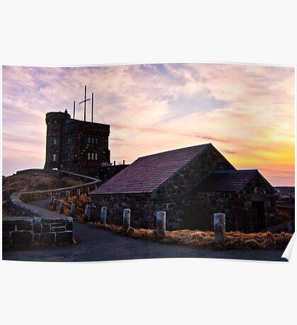 Cabot Tower Sunset - St. John's  Poster