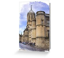 Street in Oxford  Greeting Card